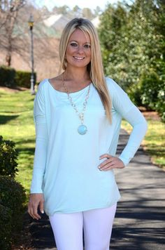 Piko top, light mint – Chapter 2 Boutique