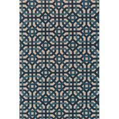 Loloi Rugs Vero Natural / Teal Area Rug