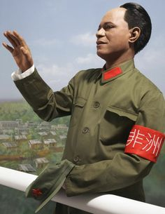 Photography by SAMUEL FOSSO, Self-Portrait as Mao Zedong, from the series Emperor of Africa, Samuel Fosso is a Cameroonian photographer. His work uses self-portraits adopting a series of personas, often commenting on the history of Africa. Contemporary Photography, Art Photography, Contemporary Art, Aperture Foundation, African Artists, Selfie, Emperor, Military Jacket, Rain Jacket
