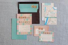Board game geeks' wed invitations