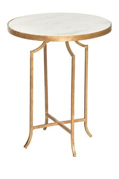 """Iron Stool with Marble Top - 16"""" by MG DECOR on @nordstrom_rack"""