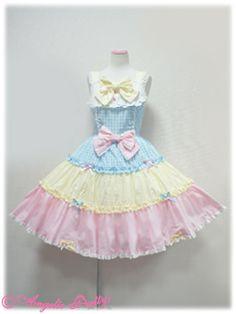 colorful gingham jumper skirt