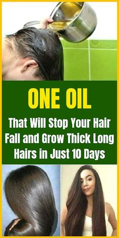 Healthy Discuss: Stop Your Hair Fall and Grow Thick Long Hairs in Just 10 Days With This Oil Beauty Tips And Secrets, Beauty Tricks, Beauty Ideas, Nailart, Excessive Hair Loss, Castor Oil For Hair, Hair Oil, Oil For Hair Loss, Nail Polish
