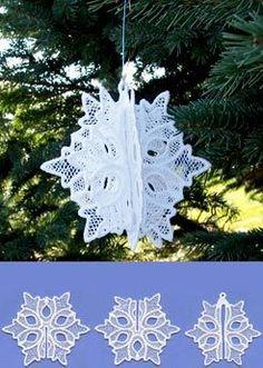 Christmas 3D Snowflake (Lace)