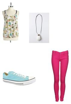"""Untitled #187"" by theresnosolution ❤ liked on Polyvore featuring Jessica Simpson, Dr. Denim, Converse and Renard Bijoux"