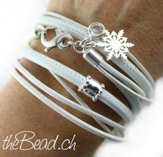 SNOW WHITE leather bracelet