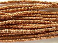 Happy Mango Beads - Small Copper Disc Beads 4mm - Long Strand (ME249), $12.50 (http://happymangobeads.com/small-copper-disc-beads-4mm-long-strand-me249/)