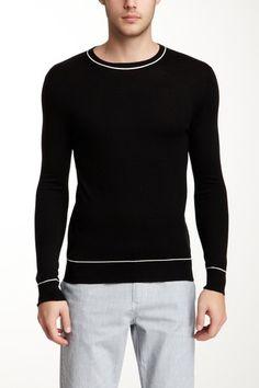 Jacob Holston Sergio Crew Neck Silk Cashmere Blend Sweater by Fall Essentials on @HauteLook