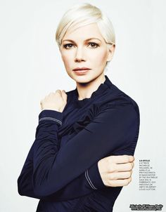 Work Hairstyles, Pixie Hairstyles, Pixie Haircut, Haircuts, Short Hair Cuts, Short Hair Styles, Pixie Cuts, Michelle Williams Style, Blonde Pixie