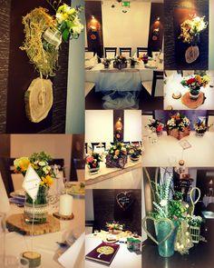 Rustic decoration, wood decoration, rustic wedding, center piece