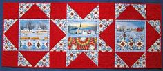 quilted easter table runner patterns   Table Runner Pattern by High Street Quilt Designs