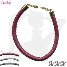 """Lien pour bracelet """"modulo"""" en simili cuir aspect reptile - 3 couleurs - embouts or ou argent : Bracelet par une-affaire-de-filles"""