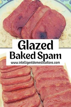 An easy Spam recipe which we glaze with a brown sugar and mustard gravy before baking. Ready in under an hour for a weeknight meal. Spam Recipes, Entree Recipes, Pork Recipes, Crockpot Recipes, Dinner Recipes, Dinner Ideas, Weeknight Meals, Easy Meals, Canned Meat
