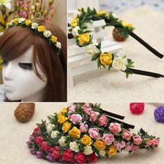 free shipping Women'S Hair Wreath With plum blossom artificial Flowers Wedding Garland Hair Head Hair Accessories