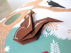 Scissors and Spice: Vintage Children's Books: Happy Origami