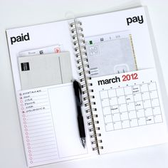 Bill calendar, organizer. Everything in 1 place. We need this!