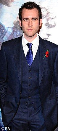 """""""The Evolution of Neville Longbottom"""" actor, Matthew Lewis being dapper and very unlike his HH character."""
