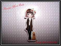 Broche Mini Doll LILOU et son Chien