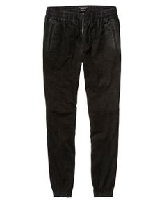 Relaxed Fit Soft Leather Pants > Womens Clothing > Pants at Maison Scotch