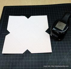 use square punch to cut notches for envelope....wow!!!!