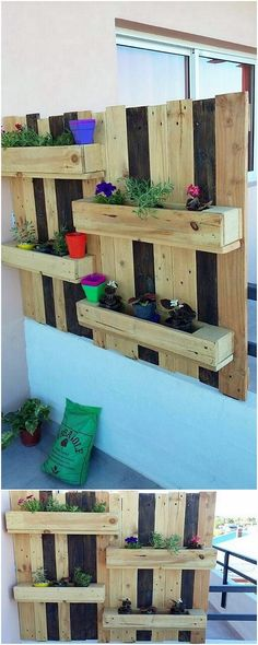 Having the option of using the wood pallet for the perfect creation of the wall planter has always stand out to be excellent one. As you will view this image, you will encounter a majestic piece of the wall planter style that is all added with the simplicity blends.