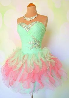 Custom Made A line Short Mini Prom Dresses Dresses by MatinDresses, $159.99