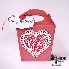 Our Daily Bread Designs Stamp Set: To My Favorite, Our Daily Bread Designs Custom Dies: Glorious Gable Box, Layering Hearts, Tulip Heart, Mini Label