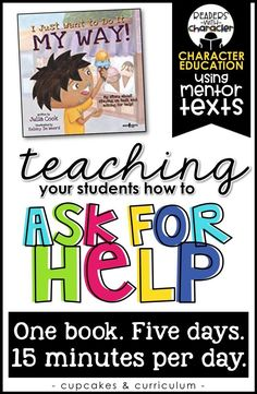 Social Skills 185632815876432986 - Teaching children how to ask for help; teaching children when to ask for help; character education and social skills in the classroom; I Just Want to Do It My Way! by Julia Cook Source by cupcakestpt Social Skills Activities, Teaching Social Skills, Social Emotional Learning, Student Teaching, Teaching Tips, Motor Activities, Physical Activities, Movement Activities, Classroom Expectations