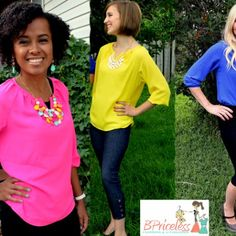 Jenna Chiffon Top in 4 Colors | BPriceless I'm in love with these!