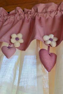 eccole qua finalmente-------------------------è un abbinamento che adoro......................e c'è di più sempre negli stessi colori a brev... Romantic Home Decor, Romantic Homes, Home Curtains, Sewing Patterns, Shabby Chic, Quilts, Stitch, Quilt Art, Handmade