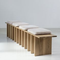Tinatin Kilaberidze - Long Bench in Oak with 4 seats by Tinatin Kilaberidze offered by Valerie Goodman Gallery on InCollect Bench Furniture, Furniture Upholstery, Painted Furniture, Modern Furniture, Furniture Design, Furniture Nyc, Cheap Furniture, Upholstered Chairs, Long Bench