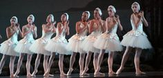 """Miami City Ballet Corp de ballet in """"Swan Lake"""", Costumes created at the MCB Costume Shop."""