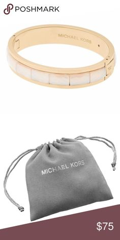 Michael Kors Bracelet Michael Kors Faceted Acetate Hinged Bangle Bracelet Gold : One Size faceted bracelet is intrinsically minimalist yet pops against a printed dress or a wrist stack. With its faceted texture and sharp contrast of marbleized white against gold-Tone stainless steel it's a fresh approach to personalizing looks with urbane chic. Michael Kors Jewelry Bracelets