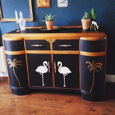 SOLD - Commissions taken Vintage retro Art Deco 1930s sideboard buffet