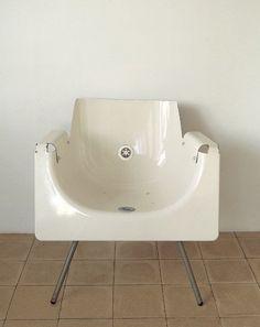 old bathtub into new chair