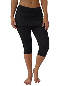 Women's Athletic Skorts - Necessity Womens Athletic Yoga Capri Leggings with Attached Skirt Skort -- You can get additional details at the image link.