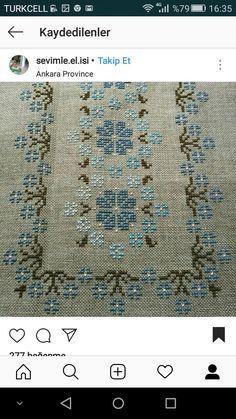 Cross Stitch Borders, Cross Stitch Designs, Cross Stitching, Cross Stitch Embroidery, Embroidery Patterns, Cross Stitch Patterns, Palestinian Embroidery, Filet Crochet, Hand Quilting