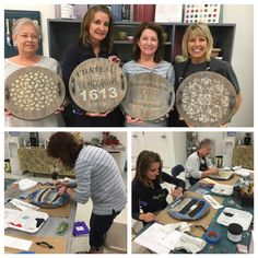 Great Paint Couture the Collection class today using glaze as a stain, stenciling, and gilding wax!