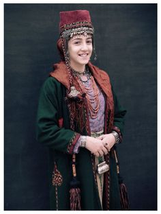 Woman of the Armenian Highland. Traditional dress.
