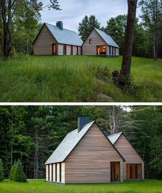 HGA Architects have designed a group of cottages to provide senior musicians accommodation at the Marlboro College campus in Marlboro, Vermont. via contemporist.com
