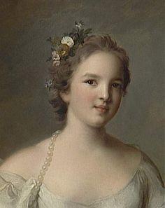 Charlotte-Louise de Rohan-Guéménée (née en 1722), princesse de Masseran,  Marquise de Crevecoeur, représentée en Hébé, par Jean-Marc Nattier (1685-1766)