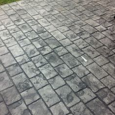 Stamped concrete. Love it.