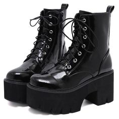 Leather High Heel Boots, Wedge Ankle Boots, Platform Ankle Boots, Heeled Boots, Black Combat Boots, Platform Boots Outfit, High Platform Shoes, Boots With Heels, Combat Boots Dress