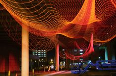 net sculpture by Janet Echelman  http://www.echelman.com/index.html