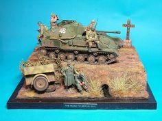 SU-76 the road to Berlin 1945 1/35 Scale Model Diorma