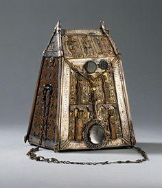 Bell & Bell Shrine of St. Conall, Cael, Ireland  --  Circa 7th-8th Centuries  --  The British Museum
