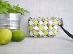 Purse Made With Comic Book Pages  Candy by LeftysHandcrafts