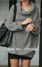 gratis verzending nieuwe trui vrouwen winter, dikke mode losse gebreide voor dames, plus size vrouwen kleding s-4xl(China (Mainland))