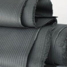 Grey Pinstripe Stretch Cotton