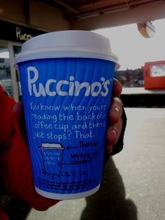 Puccinos cup | Making a Marque (by Waldo Pancake) Just Stop, Pancakes, Writing, Reading, How To Make, Pancake, Word Reading, Reading Books, Letter